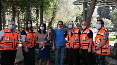 (From Left) Yosef, Daniella, Sara, Noam Avital, Akiva, Dudu, and Shimon