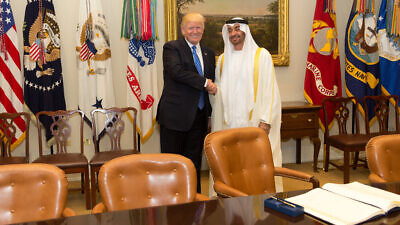 U.S. President Donald Trump meets with Sheikh Mohammed bin Zayed Al Nahyan, Crown Prince of Abu Dhabi at the White House on May 15, 2017, in Washington, D.C. Credit: Official White House Photo by Shealah Craighead.