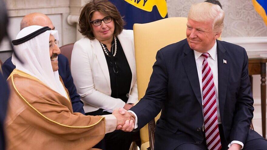 U.S. President Donald Trump and Amir Sabah al-Ahmed al-Jaber al-Sabah of Kuwait, Sept. 7, 2017. Official White House Photo by Stephanie K. Chasez.