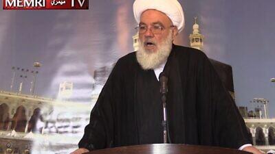 Hezbollah's first secretary general, Subhi a-Tufayli. (MEMRI)