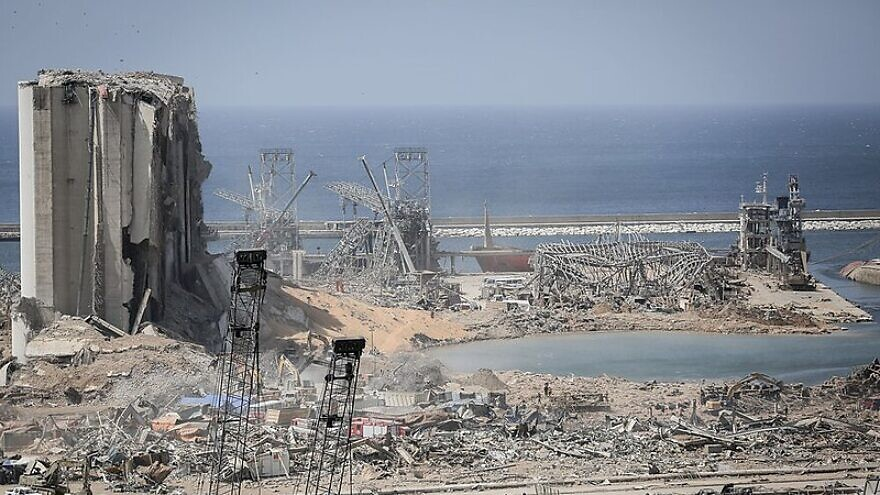 A view of the damage caused by multiple explosions in Beirut one day later on Aug. 5, 2020. Credit: Wikimedia Commons.