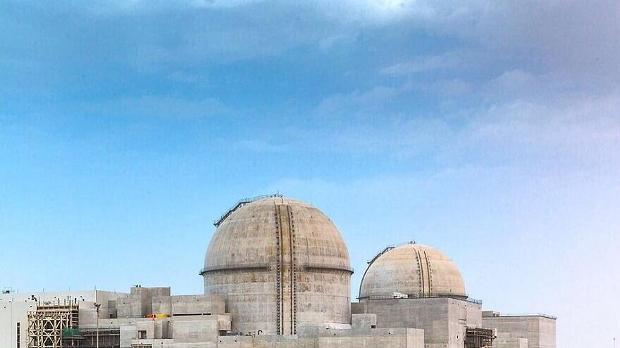 The Barakah nuclear power plant in the UAE, while under construction in 2017. Credit: Wikipedia.