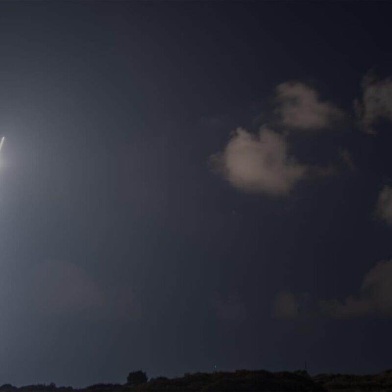 The Arrow 2 flight test conducted on Wednesday, Aug. 12, 2020, by the Israel Defense Ministry, U.S. Missile Defense Agency, Israel Aerospace Industries and the Israeli Air Force. Credit: Israeli Defense Ministry Spokesperson's Office.