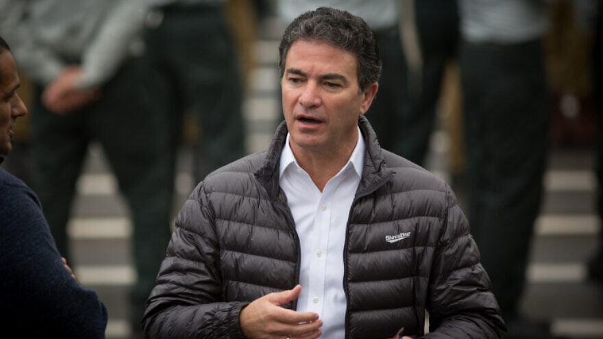 Mossad chief Yossi Cohen attends a ceremony for the appointment of the new chief of Intelligence, at Glilot military base, near Tel Aviv, March 28, 2018. Photo by Miriam Alster/Flash90.