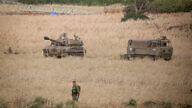 Israeli forces near the border between Israel and Lebanon in the Golan Heights on July 27, 2020. Photo by David Cohen/Flash90.