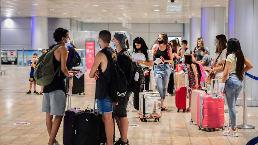 The departures hall at Ben-Gurion International Airport on Aug. 16, 2020. Photo by Avshalom Sassoni/Flash90.