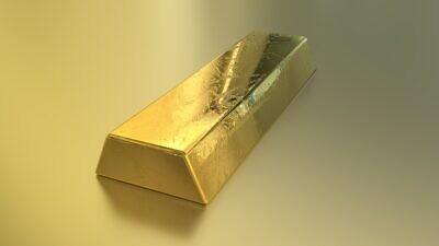 Gold bar. Credit: Pixabay.