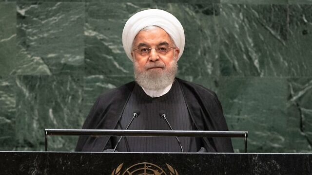 Iranian President Hassan Rouhani speaks at the U.N. General Assembly, Sept. 25, 2019. Credit: U.N. Photo/Cia Pak.