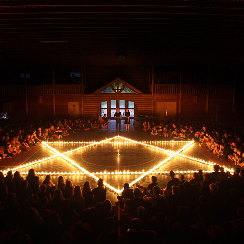 Tisha B'Av services at Camp Modin in Belgrade, Maine. Credit: Courtesy.