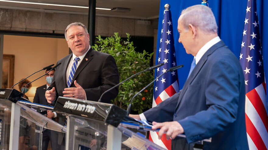 U.S. Secretary of State Mike Pompeo with Israeli Prime Minister Benjamin Netanyahu at the Prime Minister's Residence in Jerusalem, May 13, 2020. Photo by Ron Przysucha/U.S. State Department.
