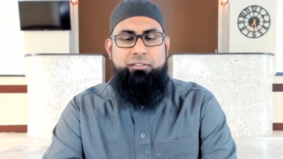 Noman Hussain, imam of ISM Brookfield in Wisconsin. Source: Screenshot.