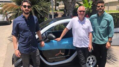 From left: Slava Bronfman, Cybellum CEO; Etienne Barbier, director at the Alliance Innovation Lab Tel Aviv; and Eldad Raziel, Cyber Security Leader at the Alliance Innovation Lab Tel Aviv. Credit: Courtesy.