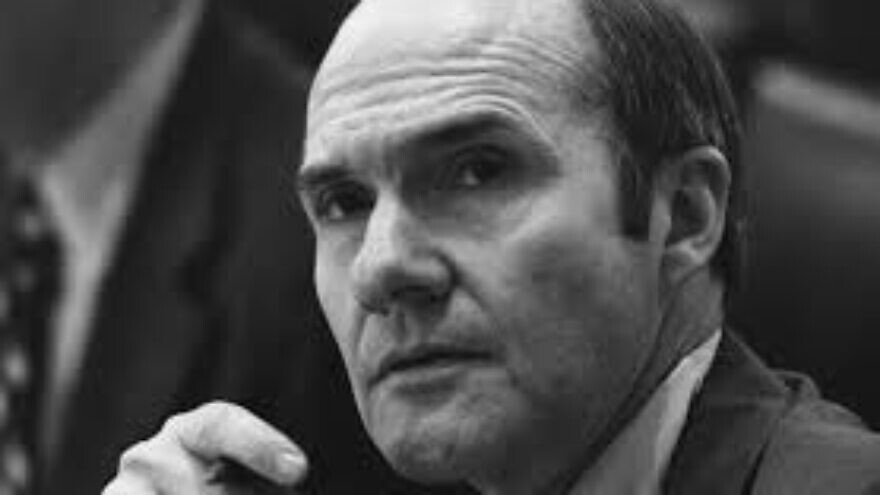 National Security Advisor Brent Scowcroft at a meeting following the assassinations of Ambassador Francis E. Meloy Jr. and Economic Counselor Robert O. Waring in Beirut in 1976. Credit: Gerald R. Ford Presidential Library via Wikimedia Commons.