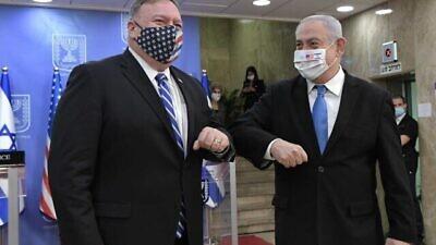 U.S. Secretary of State Mike Pompeo and Israeli Prime Minister Benjamin Netanyahu meet in Jerusalem on Aug. 24, 2020 Credit: Kobi Gideon/GPO.