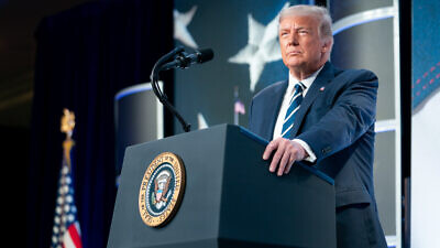 U.S. President Donald Trump delivers remarks at the 2020 Council for National Policy Meeting at the Ritz-Carlton in Pentagon City, Va., on Aug. 21, 2020. Credit: Tia Dufour/The White House.