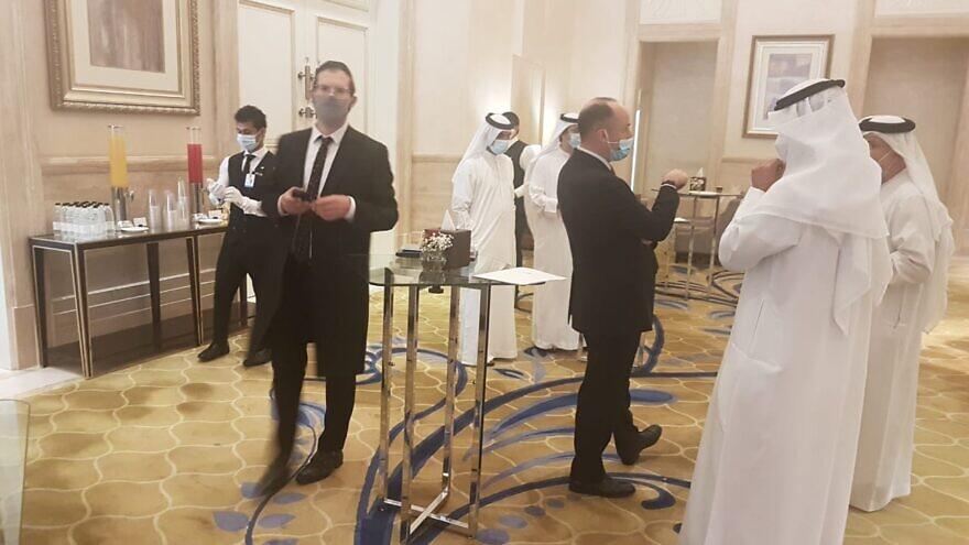 Breakfast at the St. Regis Hotel in the United Arab Emirates. Credit: Rabbi Yissachar Krakowski.