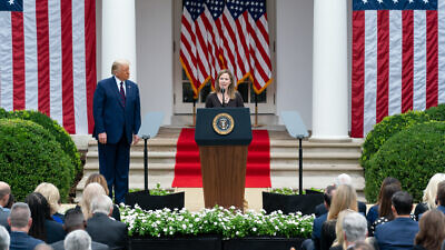 Judge Amy Coney Barrett delivers remarks after U.S. President Donald Trump announced her as his nominee for Associate Justice of the U.S. Supreme Court in the Rose Garden at the White House on Sept. 26, 2020. Credit: White House/Andrea Hanks.