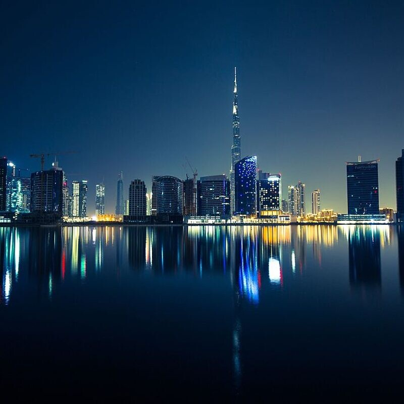 Downtown Dubai, United Arab Emirates, April 30, 2015. Photo: Robert Bock via Wikimedia Commons.