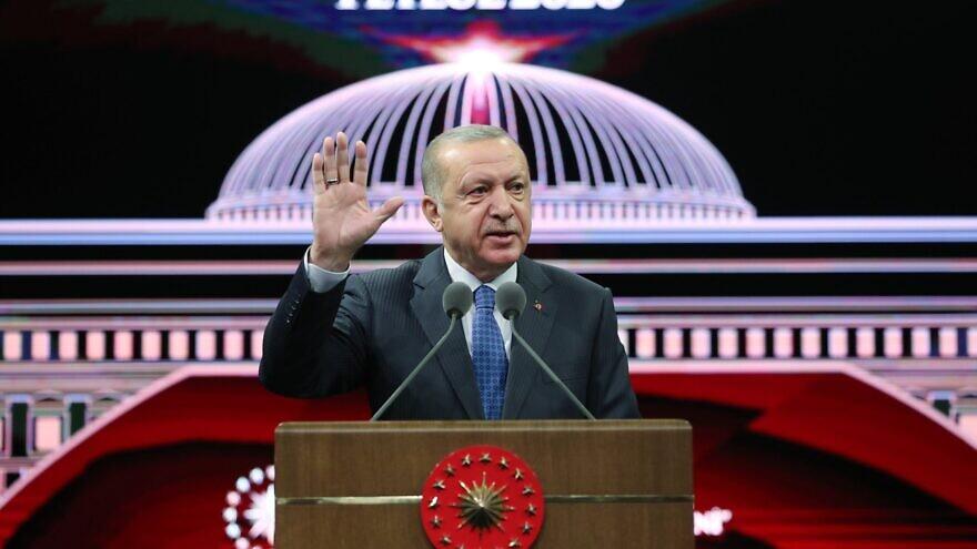 Turkish President Recep Tayyip Erdoğan. Source: Turkish Presidency via Twitter.