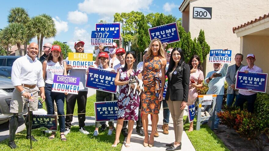 Lara Trump, front and center, campaigned with Laura Loomer, on the right. Loomer is the Republican congressional candidate in Florida's 21st Congressional District. Credit: Courtney Parella/Twitter.