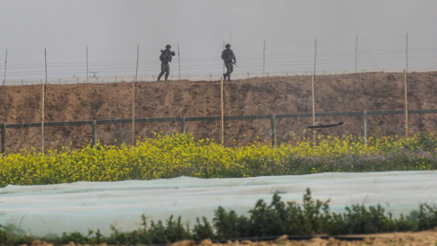 Israeli soldiers near the border with the southern Gaza Strip, Feb. 23, 2020. Photo by Fadi Fahd/Flash90.
