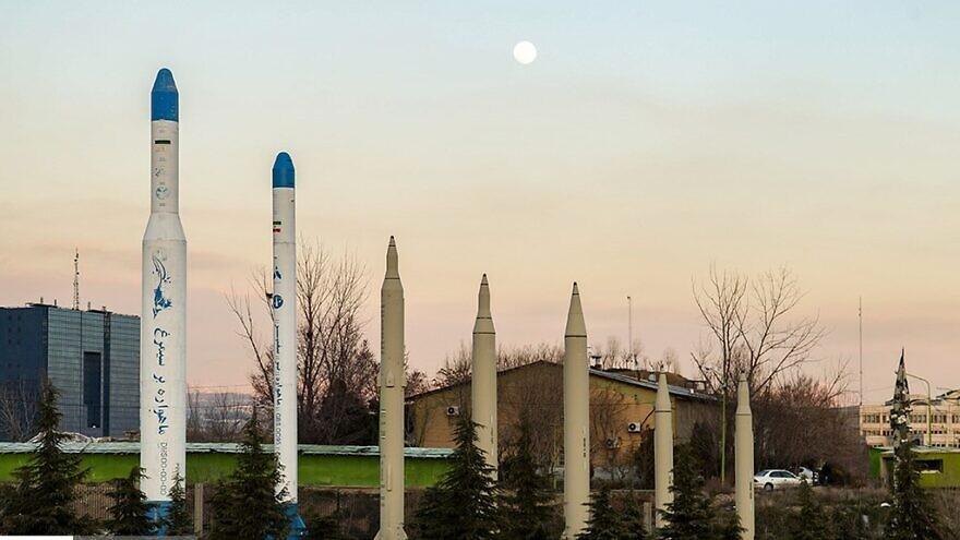 A display of Iranian missiles on Aug. 22, 2019. Credit: Hamid Tavakoli/Wikimedia Commons.