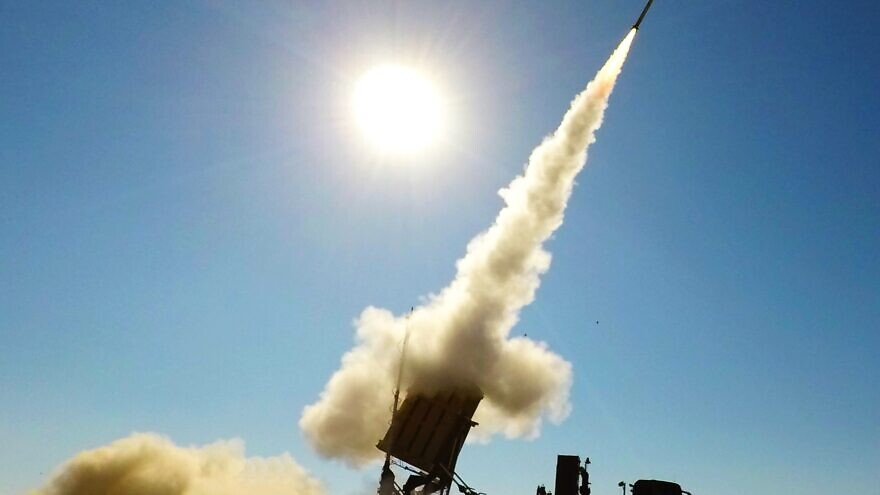 A view of the Iron Dome air-defense system. Credit: Rafael Advanced Defense Systems.