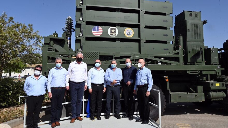 Israeli officials at the ceremony held in honor of the delivery of an Iron Dome battery to the U.S. Army, September 2020. Photo by Ariel Hermoni/Israel Ministry of Defense.