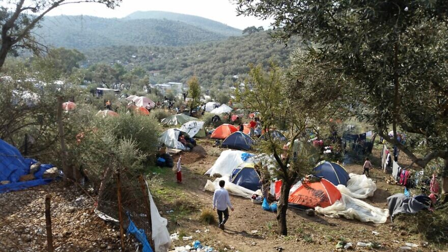 The Moria refugee camp in Lesbos, Greece, prior to the September 2020 fires. Credit: IsraAID.