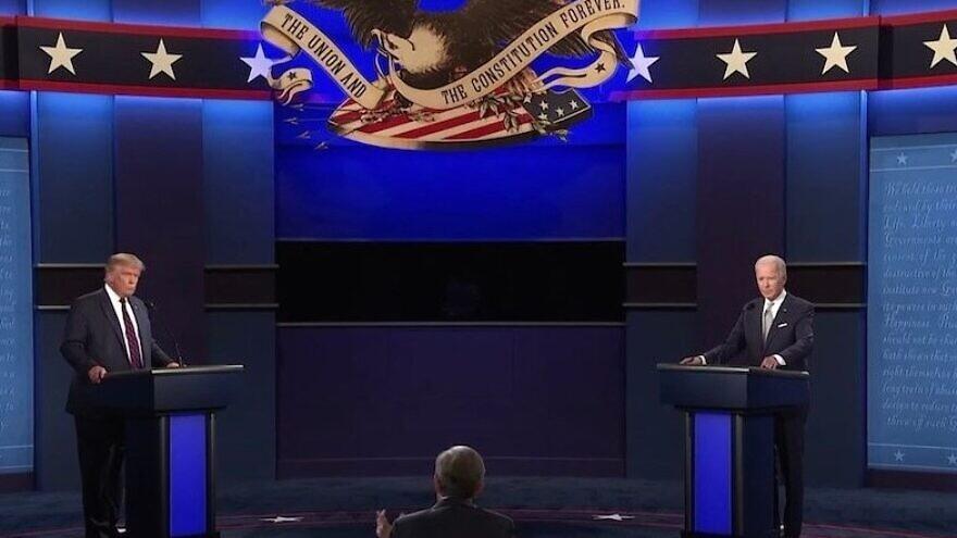First 2020 presidential debate in Cleveland. Source: Screenshot.