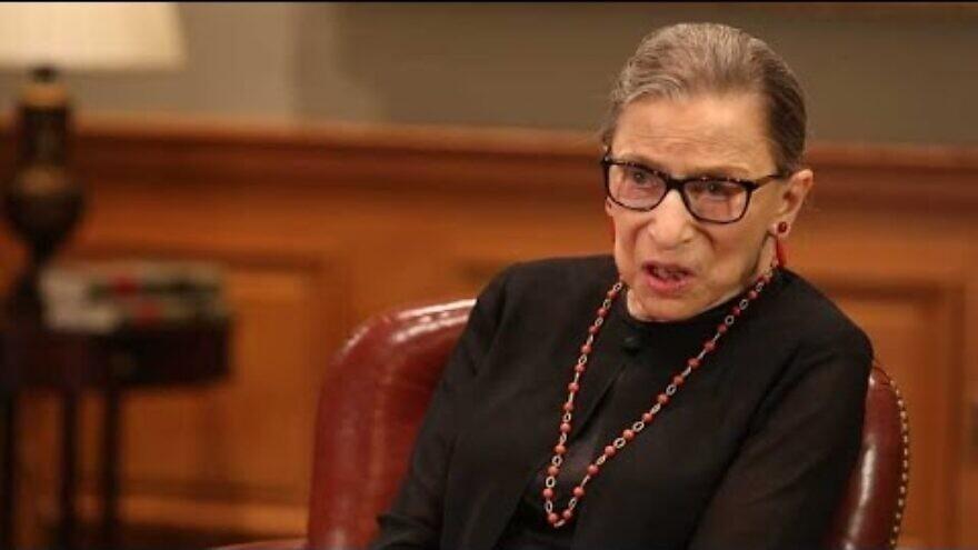 U.S. Justice Ruth Bader Ginsburg. Source: YouTube.