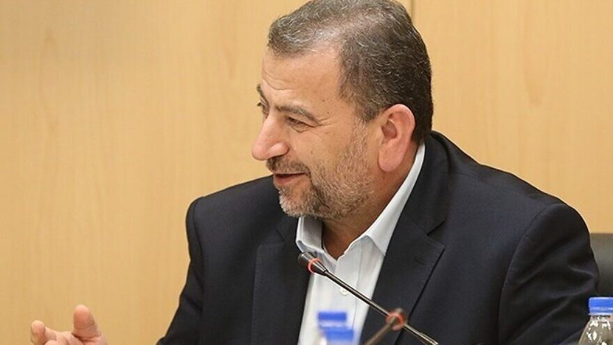 Hamas deputy head Saleh al-Arouri on Oct. 21, 2017. Credit: Tasnim News Agency via Wikimedia Commons.