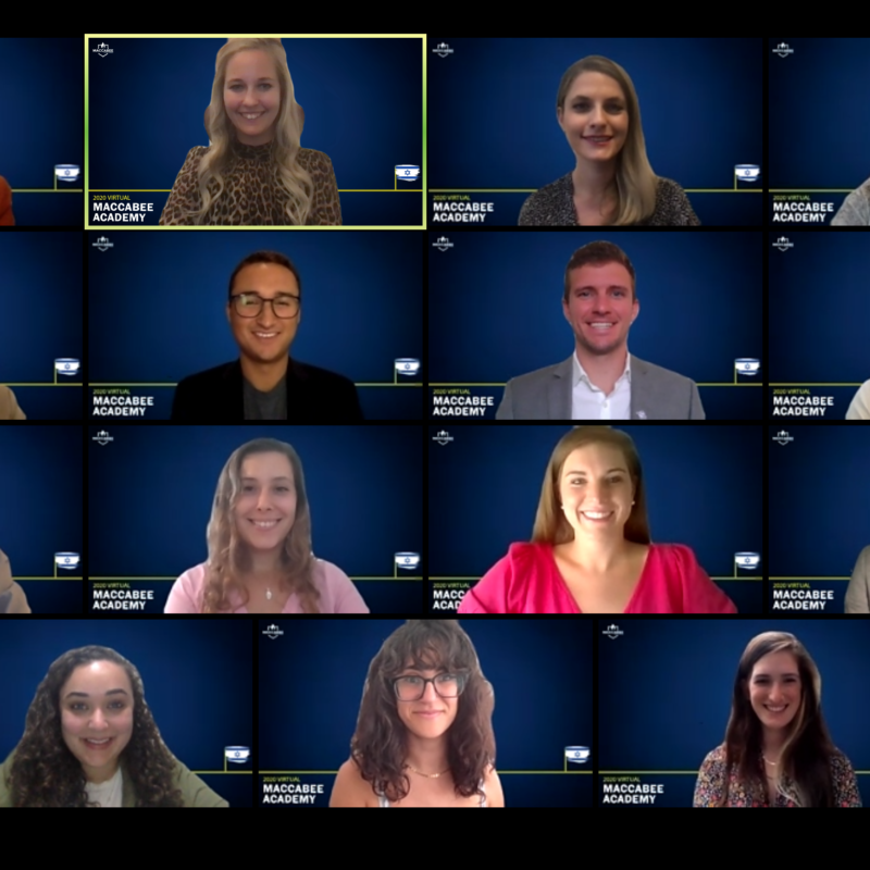 Maccabi Task Force staff and students participating in their 2020 virtual campus conference. Source: Screenshot.