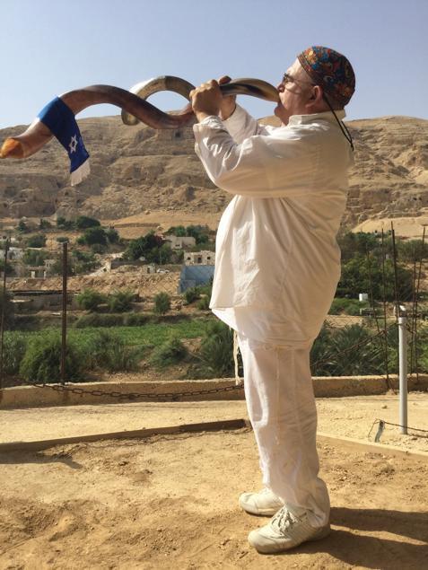 """""""The shofar is a prophetic instrument—hearing it awakens the power of Jewish history in every heart,"""" says Weinger. Credit: Courtesy."""