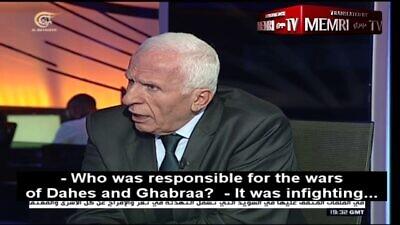 Fatah Central Committee Member Azzam al-Ahmad (MEMRI)