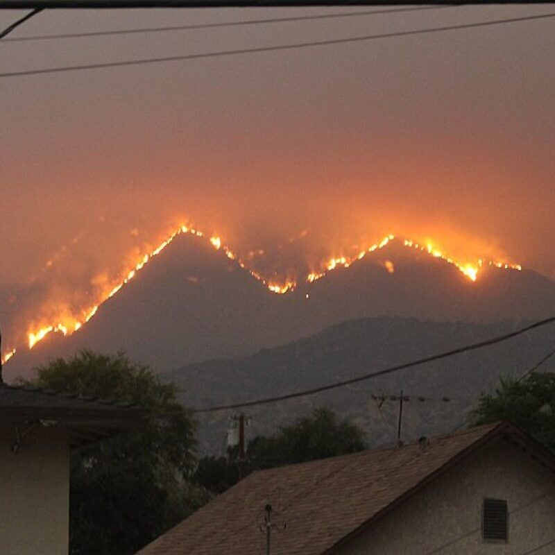 The Bobcat Fire as seen from Monrovia, Calif., Sept. 10, 2020. Photo: Wikimedia Commons.