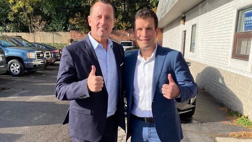 Eric Esshaki (right) with former U.S. Ambassador to Germany Richard Grennell. Source: Eric Esshaki/Facebook.