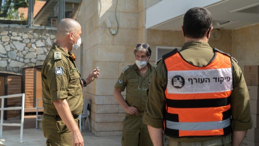 The IDF expects to have the wards up and running in two to four weeks, and is recruiting medical personnel from across the IDF, including from special forces and combat units. Credit: IDF Spokesperson's Unit.