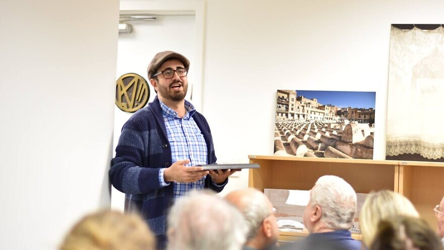 Ruben Shimonov speaking at an event for the American Sephardi Federation in 2018. Credit: American Sephardi Federation via Facebook.