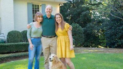 Matt Lieberman with his two daughters, Tess and Willie. Credit: Matt Lieberman via Facebook.