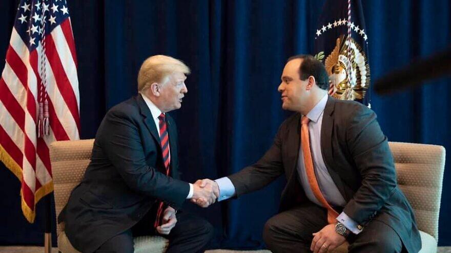 Boris Epshteyn, a strategic advisor for U.S. President Donald Trump's 2020 campaign, pictured with the president. Source: Boris Epshteyn via Facebook.