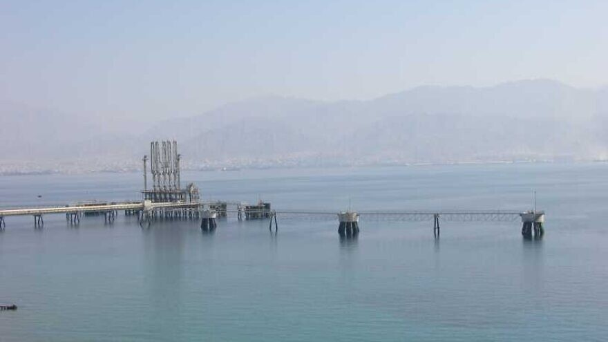 The EAPC jetty in Eilat on Aug. 5, 2007. Credit: Chaver83/Wikipedia.