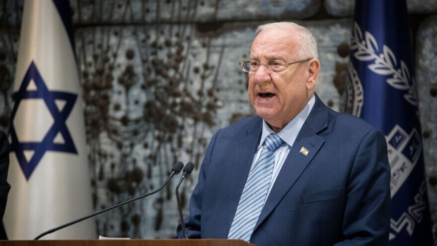 Israeli President Reuven Rivlin speaks at the President's Residence in Jerusalem, on Sept. 25, 2019. Photo by Yonatan Sindel/Flash90.