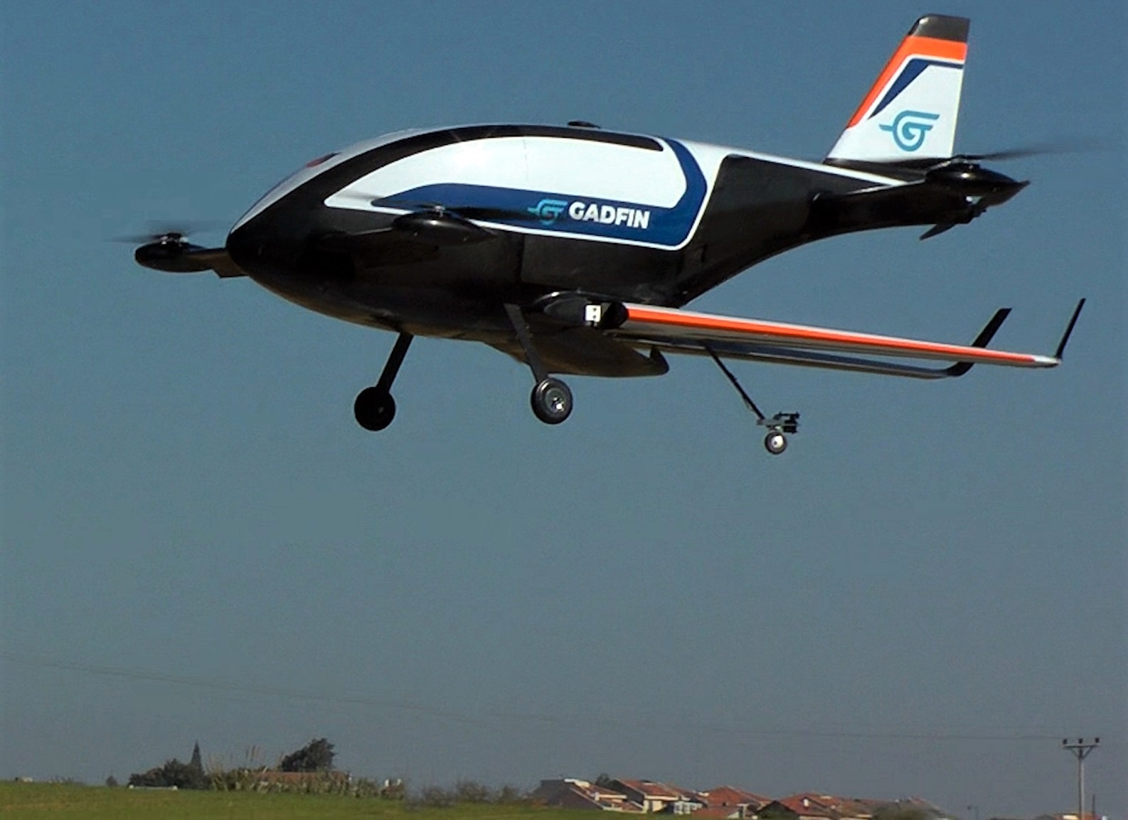 "A Gadfin ""Spirit One"" UAV in flight. Credit: Courtesy."