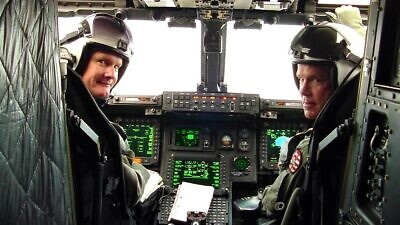 The ANVIS HUD connects to the helmets of Army helicopter pilots, allowing pilots' heads to remain upright and looking out of the aircraft with all relevant information presented in front of the pilots' eyes. Credit: Courtesy.