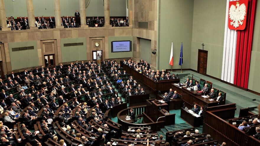 The Sejm, or lower house of the bicameral parliament of Poland in 2014. Credit: Wikimedia Commons.