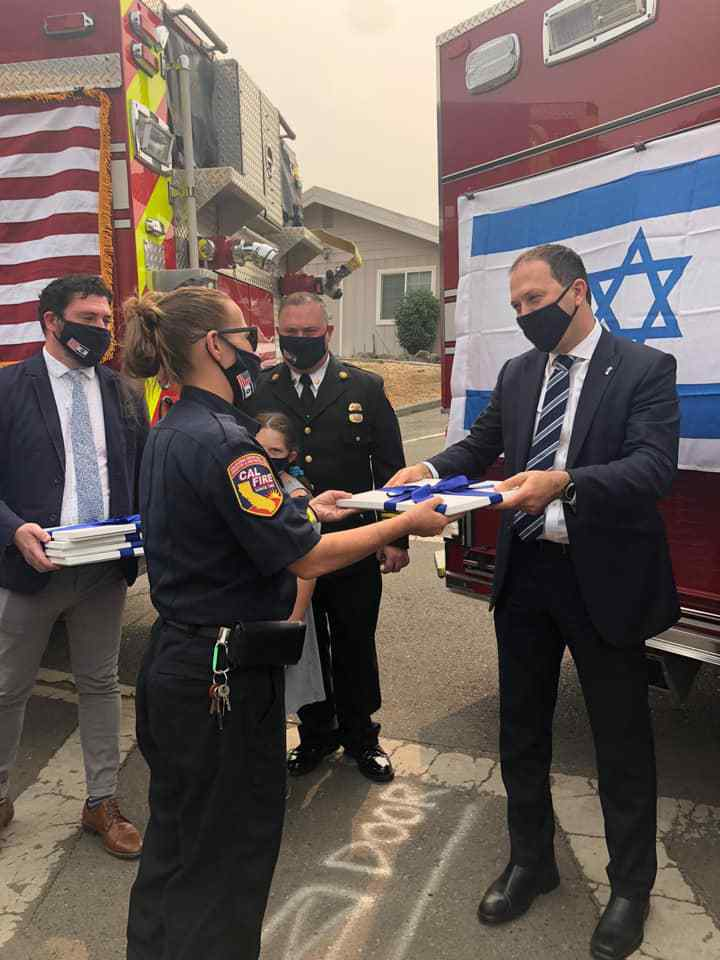 Israeli, Californian Firefighters Become Band Of Brothers 3