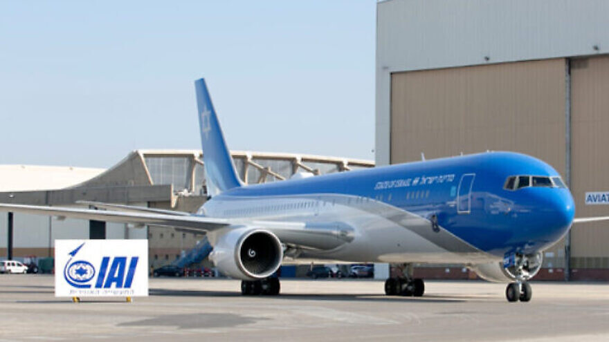 "Israel's version of ""Air Force One,"" a customized Boeing 767 jet. Credit: Israel Aerospace Industries."