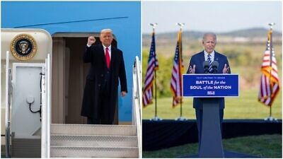 U.S. President Donald Trump and former Vice President and Democratic presidential candidate Joe Biden on the campaign trail. Source: Trump campaign via Facebook/Biden Campaign via Facebook.