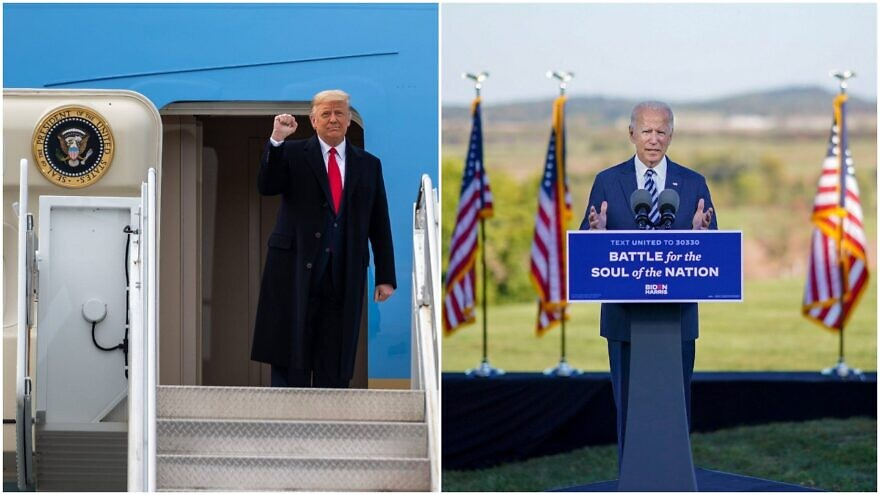 U.S. President Donald Trump, and former U.S. Vice President and Democratic presidential candidate Joe Biden, on the campaign trail. Source: Trump campaign via Facebook/Biden Campaign via Facebook.